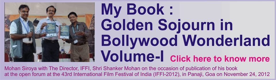 "Banner for My Book : ""Golden Sojourn in Bollywood Wonderland : Volume-I"""